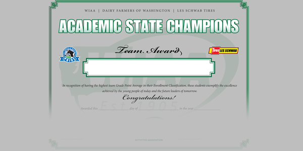 WIAA Announces Fall Academic State Champions